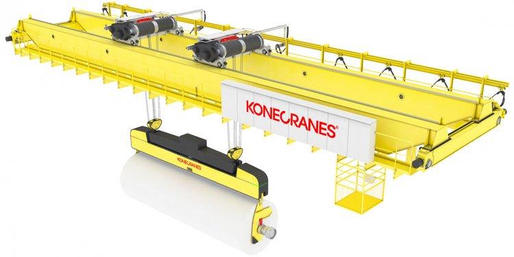 A crane lifts every ton of
