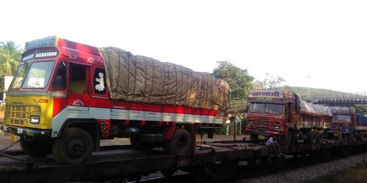 RORO from Konkan Railway-Truck
