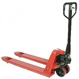 Narrow Manual Pallet Jack, 5500 lb. Load Capacity, Fork Size: 6-5/16